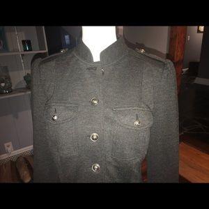 Military style gray jacket